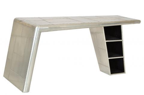 Bürotisch Schreibtisch Tisch airrange möbel Aluminium aus airplane recycling - Vorschau