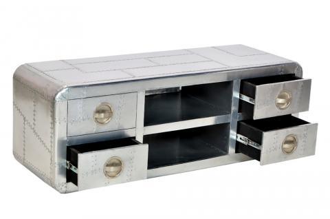 für TV flatscreen Sideboard Anrichte Aluminium airplane recycling