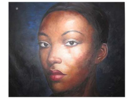 Großartiges Porträt Frau Afrikanerin Originalgröße Öl auf Leinwand bekannter Meister - Vorschau