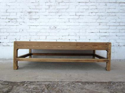 China klassischer niedriger Tisch aus massivem hellem Pinienholz 80J