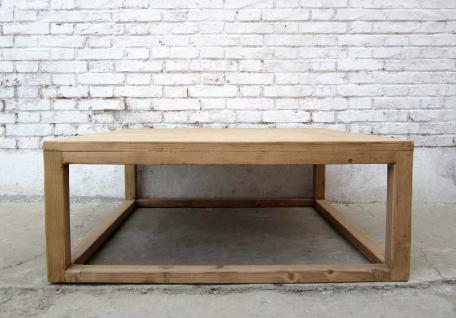 China Landhaus Stil quadratischer traditionell flacher Tisch aus heller Pinie