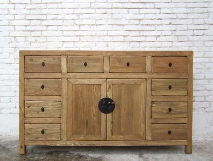 china jilin um 1910 breite kommode anrichte mit vielen schubladen pinie natur kaufen bei. Black Bedroom Furniture Sets. Home Design Ideas