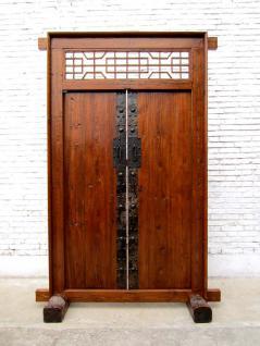 China Shanxi um 1810 breite Tür Tor Eingang zweiflügelig Ulmenholz mit Rahmen - Vorschau