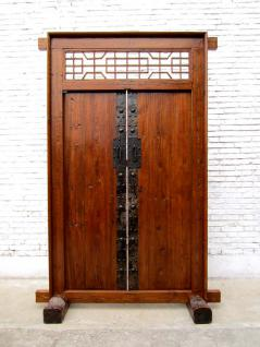 China Shanxi um 1810 breite Tür Tor Eingang zweiflügelig Ulmenholz mit Rahmen