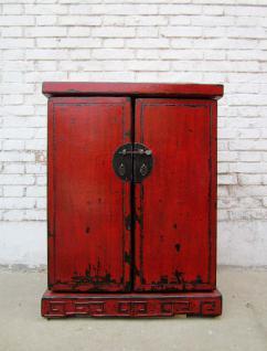 China Kolonialstil kleine Kommode Pinie mit Metallbeschägen