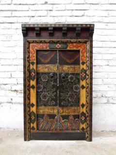 China schönes Fenster (1) mit Rahmen in märchenhafter Bemalung - Vorschau