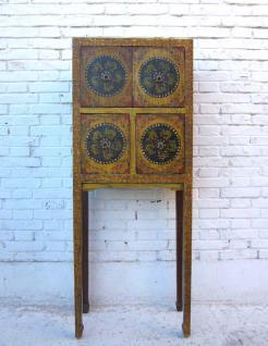 Aus Tibet stammendes Highboard Barschrank - Vorschau