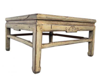 China Beijing 1860 klassischer niedriger Tisch massives Ulmenholz weiß - Vorschau