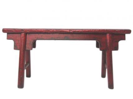 China Shandong um 1860 antike Sitzbank massives rotes Ulmenholz