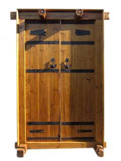 China Shanxi ca 1810 breite Tür Tor Eingang zweiflügelig Ulmenholz mit Rahmen