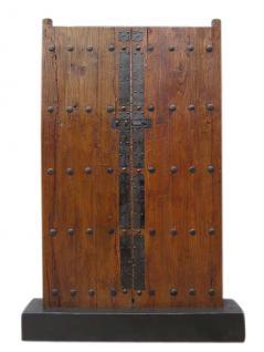 China Shanxi um 1810 breite Tür Tor Eingang zweiflügelig Ulmenholz mit Sockel