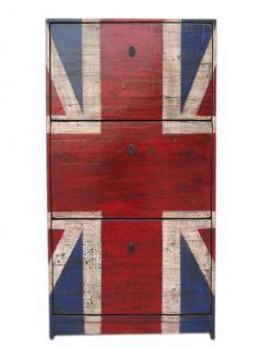 Very british GB Schubladen Kommode Anrichte Kredenz Union Jack optik für Britain fans