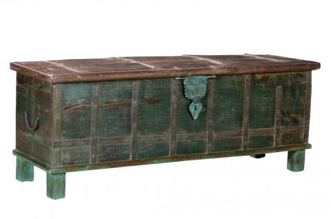Indien 70Jahre alte ultra lange Truhe Sitzbank Box Rajasthan - Vorschau