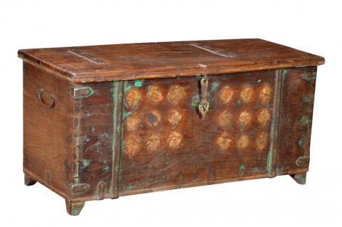 Indien 1960 Truhe Box Kassette filigrane Frontverzierung Rajasthan