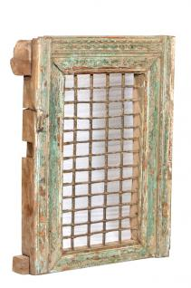Indien 1930 mächtiges Fenster mit herrlichem Rahmen Rajasthan