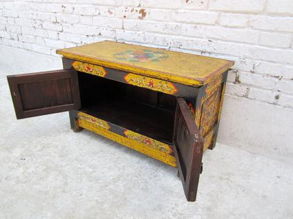 China TIBET 1920 nice antique paintings little commode pine como basso
