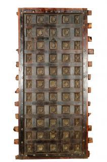 Indien 1860 massive Kassetten Decke zum Einbau Rajasthan