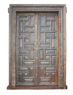 Kassetten Holz Türen aus dem kolonialen Indien in großer Auswahl hier bei Luxury Park - Vorschau