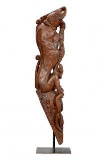 Indien 1900 dekoratives Kapitel als Skulptur auf Standsockel