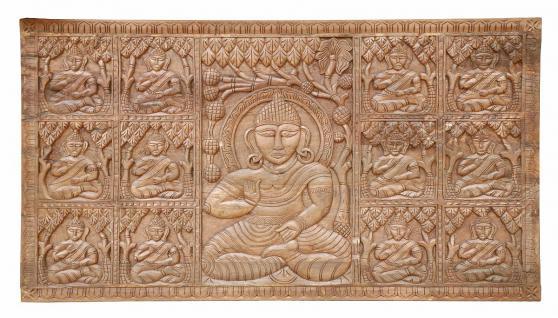 Wunderschönerhandgeschnitzter Deko Panel Türblatt aus Indien - Vorschau