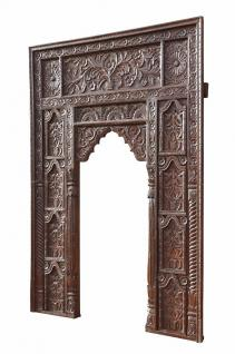 India Mughal Empire großer Fensterrahmen Bogen hoch geschnitztes Holz D ED-11-20