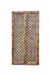 fine art INDIA small wooden DOOR PANEL with FRAMEWORK zig zag cutout D ED-11-35