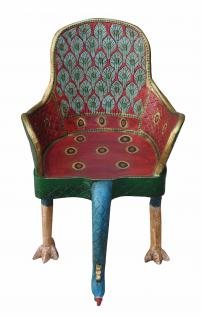 Indien absolut surrealer Vogel Sessel Unikat shock art - Vorschau