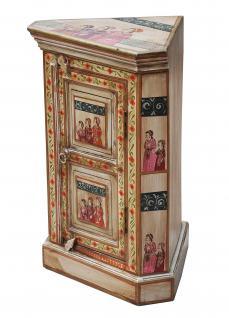 India großartig bemalter kleiner Eckschrank Kommode traditionelle Motive
