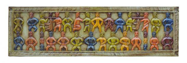Indien ultrabreites buntes Wandbild Dekortafel Massivholz native style bei Luxury Park
