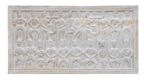 Indien großes Wandbild Dekor Holztafel Naturtöne Ethno Art bei Luxury Park - Vorschau