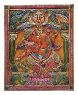 Indien altes Wandbild Motiv Ganesha tolle Bemalung von Luxury-Park