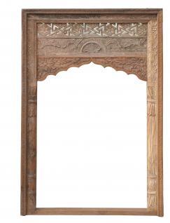 Indien halbhoher Einbau Rahmen Fenster Dekorbogen großartige Schnitzterei