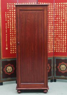 China hohe Kommode Schubladenturm Schuhschrank massive Pinie rotbraun - Vorschau