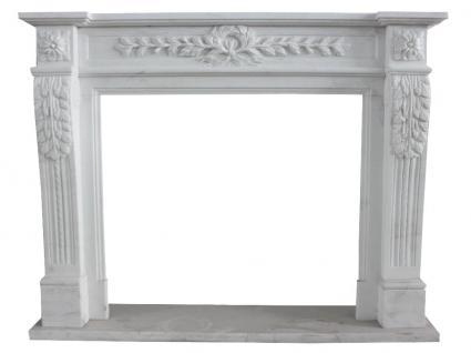 Weißer Marmorkamin schlanke Kaminverkleidung Kamine Stilkamin Umrandung Kaminumrandungen - Vorschau
