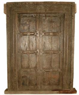Alter kaum zu schätzen! Antike Tür Tor aus Indien - Vorschau