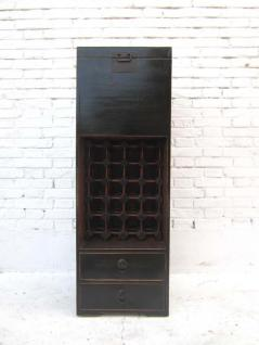 China schlanke Kommode Barschrank Anrichte schwarz glänzend lackiert - Vorschau