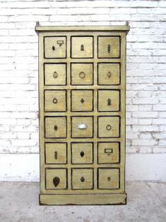 China 1950 kleiner Apothekerschrank Schubladenturm Sammlerschrank 18 Schübe Luxury-Park