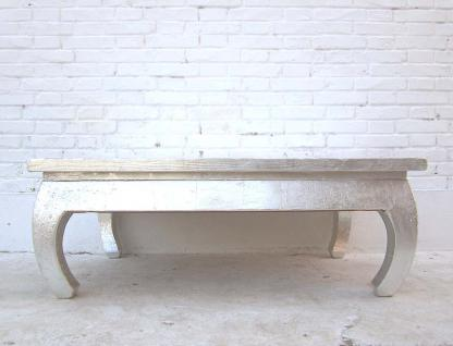 China Klassisch flacher Tisch geschwungene Füsse weiss lackiertes Pinienholz von Luxury-Park - Vorschau