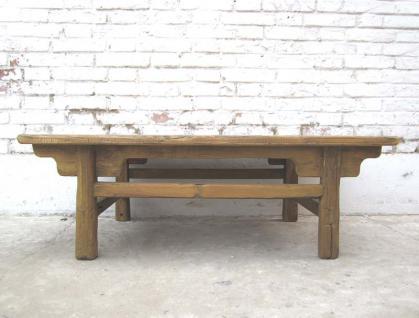 China 1910 traditionell flacher Tisch rustikale Sockeloptik Landhaus-Stil helle Fichte von Luxury-Park - Vorschau