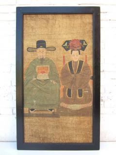 Antikes China großes klassisches Wandbild Motiv Hochzeits Paar auf lackiertem Holz von Luxury-Park - Vorschau