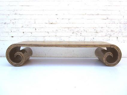China antik 1910 elegantes Lowboard flache Anrichte ideal für Flachbildschirm zart bemaltes Weidenholz von Luxury-Park - Vorschau