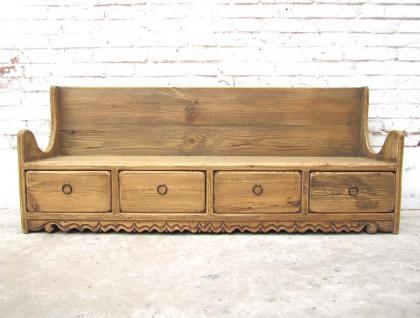 shanxi 1890 herrliche rustikale sitzbank mit schubladen im sockel landhausstil fichtenholz von. Black Bedroom Furniture Sets. Home Design Ideas