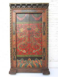 China 1920 Doppeltüre Tür Palast Tor mit Rahmen zauberhaft bemalt einmalige Drachen Ornamente von Luxury Park