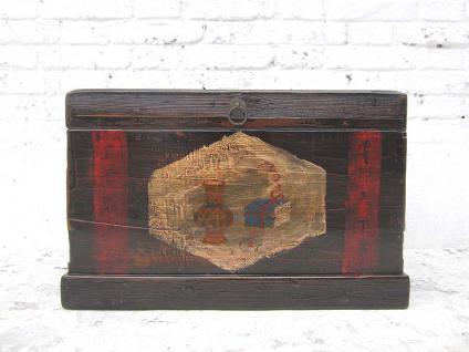 China Shanxi 1810 Truhe Hochzeitstruhe schwarz lackierte Oberfläche und Schmuckdekor Pinie von Luxury-Park