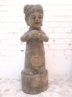 Mädchen Holzfigur Skulptur Pappelholz China 80 Jahre alt von Luxury Park