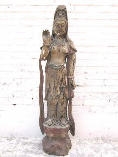 Guanyin stehend filigrane Statue Skulptur Pappelholz China 1910 von Luxury Park