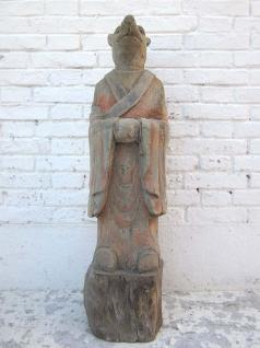 Skulptur Hund China Horoskop Tier Figur buddhistisch Pappelholz bemalt 100 Jahre alt von Luxury Park