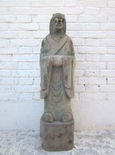 Skulptur Schlange China astrologische Figur buddhistisch bemalte Pappel 100 Jahre alt von Luxury Park