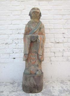 Skulptur Affe Tierzeichen chinesische Astrologie 1920 Pappelholz bemalt hier bei Luxury Park - Vorschau