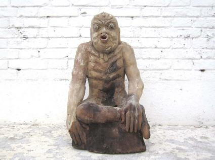 China 1920 Figur Der Fastende Meditation Skulptur buddhistisch Pappel von Luxury Park - Vorschau